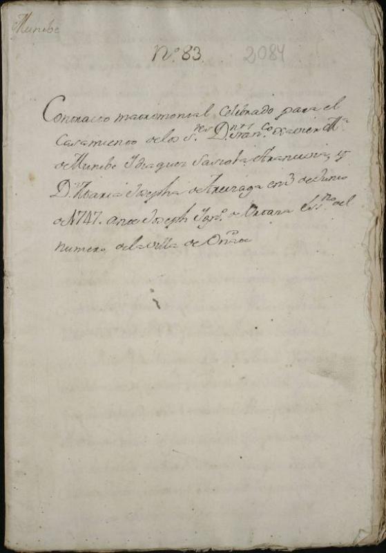 Contrato matrimonial de Don Francisco Javier María de Munibe y Doña María Josefa de Areizaga.JPG