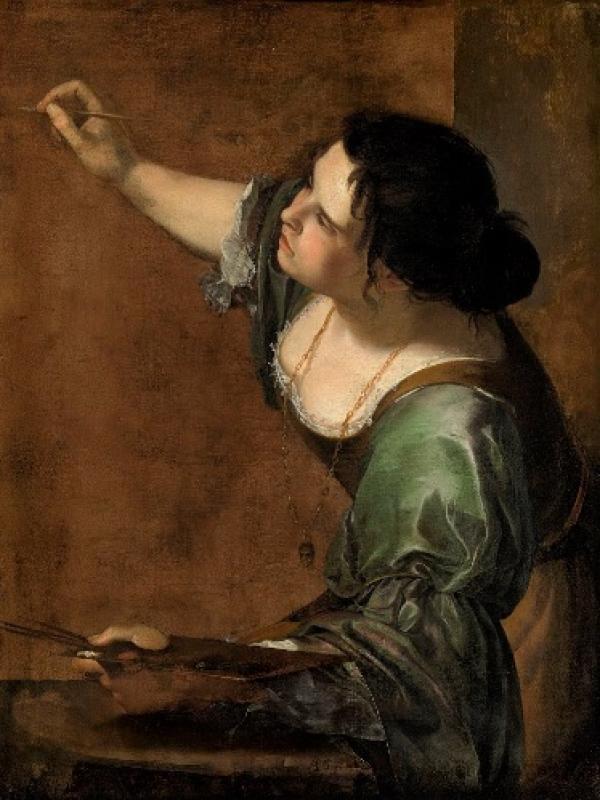 Autorretrato de Artemisa Gentilleschi. Las mujeres en los talleres de arte artífices y administradoras.jpg