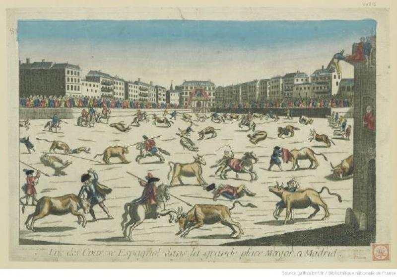 Corrida de toros en la Plaza Mayor de Madrid.JPEG
