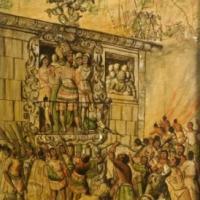 Conquista de México. Ataque a Moctezuma.jpg