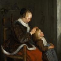 Madre peinando a su hija o a la caza de la liendre.jpg