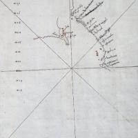 El descubrimiento de Cortés. La Baja California. Mapa de la nueva tierra de Santa Cruz.jpg